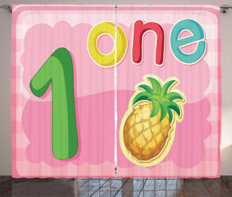 First Year One Sign Curtain