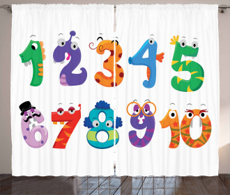 Math Funny Characters Curtain