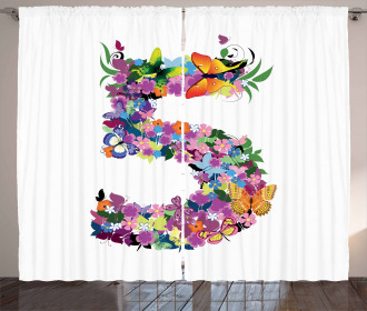 Floral Spring Five Years Curtain