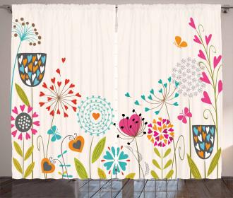 Hearty Dandelion Seeds Curtain