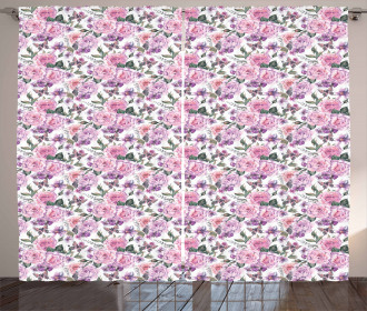 Swallowtails and Roses Curtain