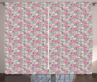 Repeating Dandelions Curtain