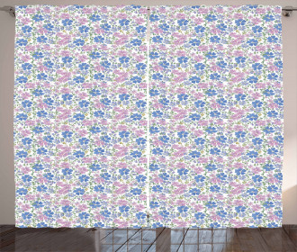 Spring Vintage Floral Curtain