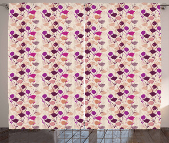 Carnations and Tulips Curtain