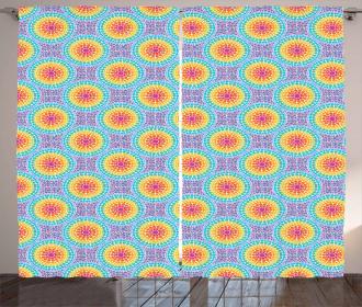 Rainbow Color Circles Curtain