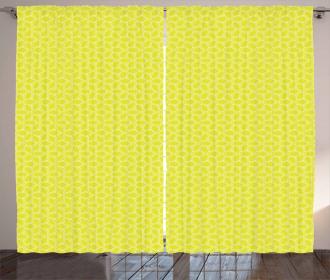 Abstract Juicy Lemons Curtain