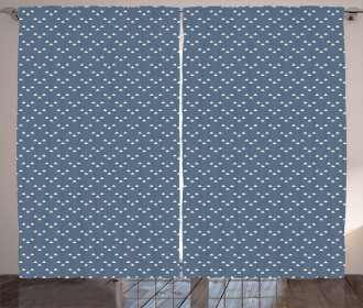 Doodle Triangle Print Curtain