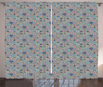 Patchwork Mosaic Tiles Curtain