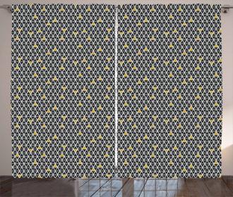 Simplistic Rhombus Curtain