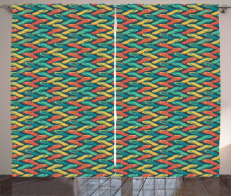 Zigzag Design Slipper Curtain