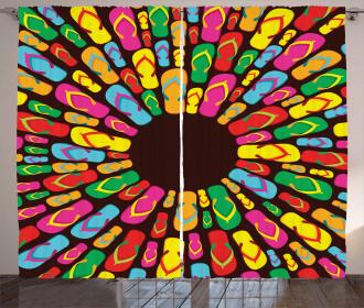 Slippers Mandala Curtain