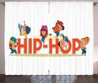 Hip Hop Moonwalk Dance Curtain
