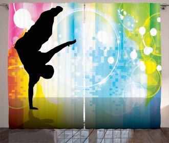 Breakdancing Theme Curtain