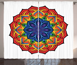 Boho Flowers Curtain