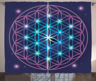Ombre Flower of Life Curtain