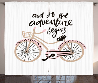 A Bicycle and Quote Curtain