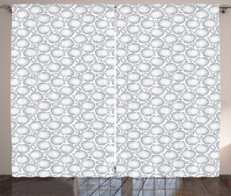 Pointilist Scallops Curtain