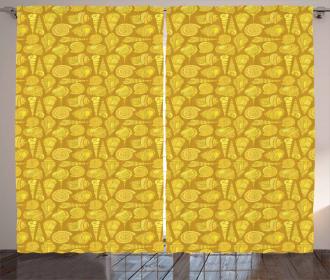 Stylized Ornamentals Curtain