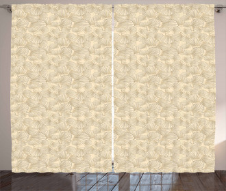 Interlacing Clams Motif Curtain