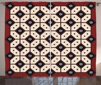 Javanese Batik Pattern Curtain