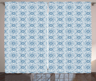 Dutch Floral Tile Curtain