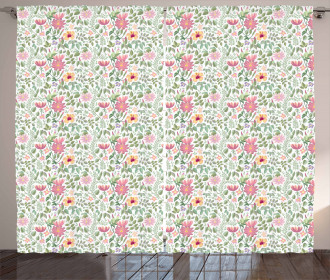 Wildflower Botanic Theme Curtain