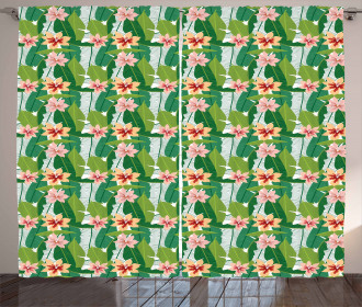Exotic Hawaiian Botanic Curtain