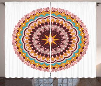 Ethnic Floral Motif Curtain