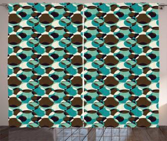 Grungy Geometric Circles Curtain