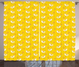 Dots Chicken Haystack Curtain