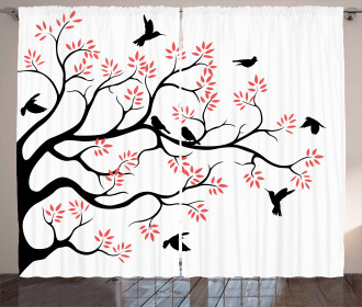 Mockingbird on Plane Tree Curtain
