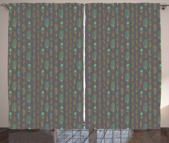 Boho Ethnic Sketch Art Curtain