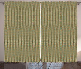 Simple Rhombus Cells Tile Curtain