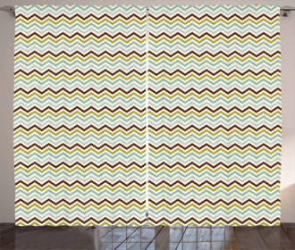 Pixel Shaped Zigzag Curtain