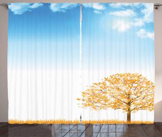Pastoral Maple Tree Curtain
