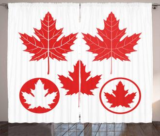 Canadian Flag Motifs Curtain