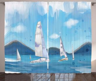 Sailing Landscape Curtain