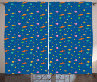 Planets and Stars Curtain