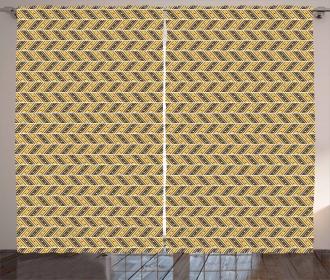 Asymmetric Lines Curtain