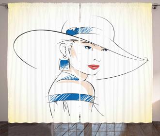 Fashion Sketch Curtain