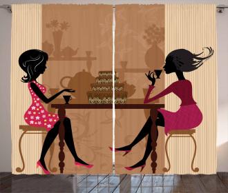 Women Chatting Curtain