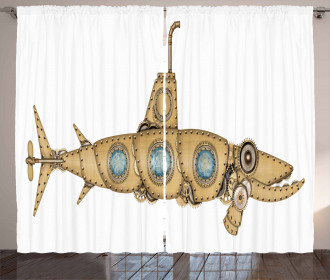 Barracuda Submarine Curtain