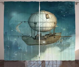 Futuristic Airship Curtain