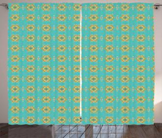 Geometric Tile Curtain