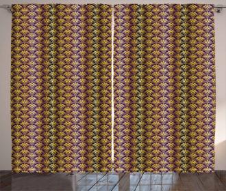 Peacock Motif Curtain