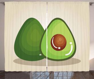 Organic Freshness Theme Curtain