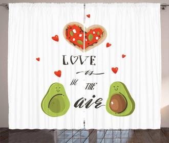 Valentine Fruit Couple Curtain