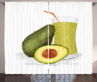 Fresh Avocado Smoothie Curtain