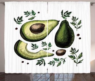 Tropical Fruit Elements Curtain