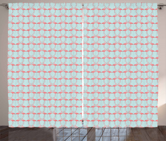 Flamingo Birds Curtain